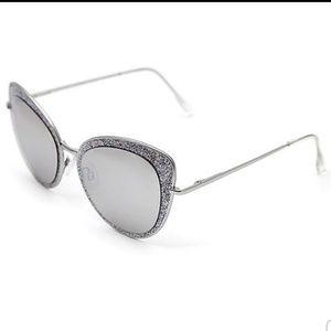 Betsey Johnson Glittery Cat Eye Sunglasses